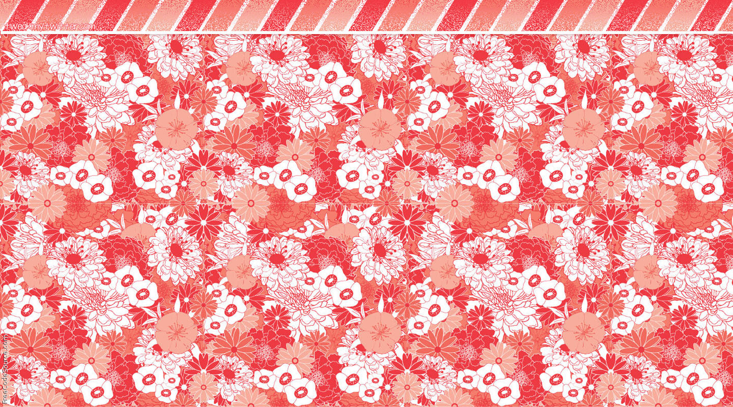 Coral Flowers Twitter Backgrounds Coral Flowers Twitter Layouts 1440x800