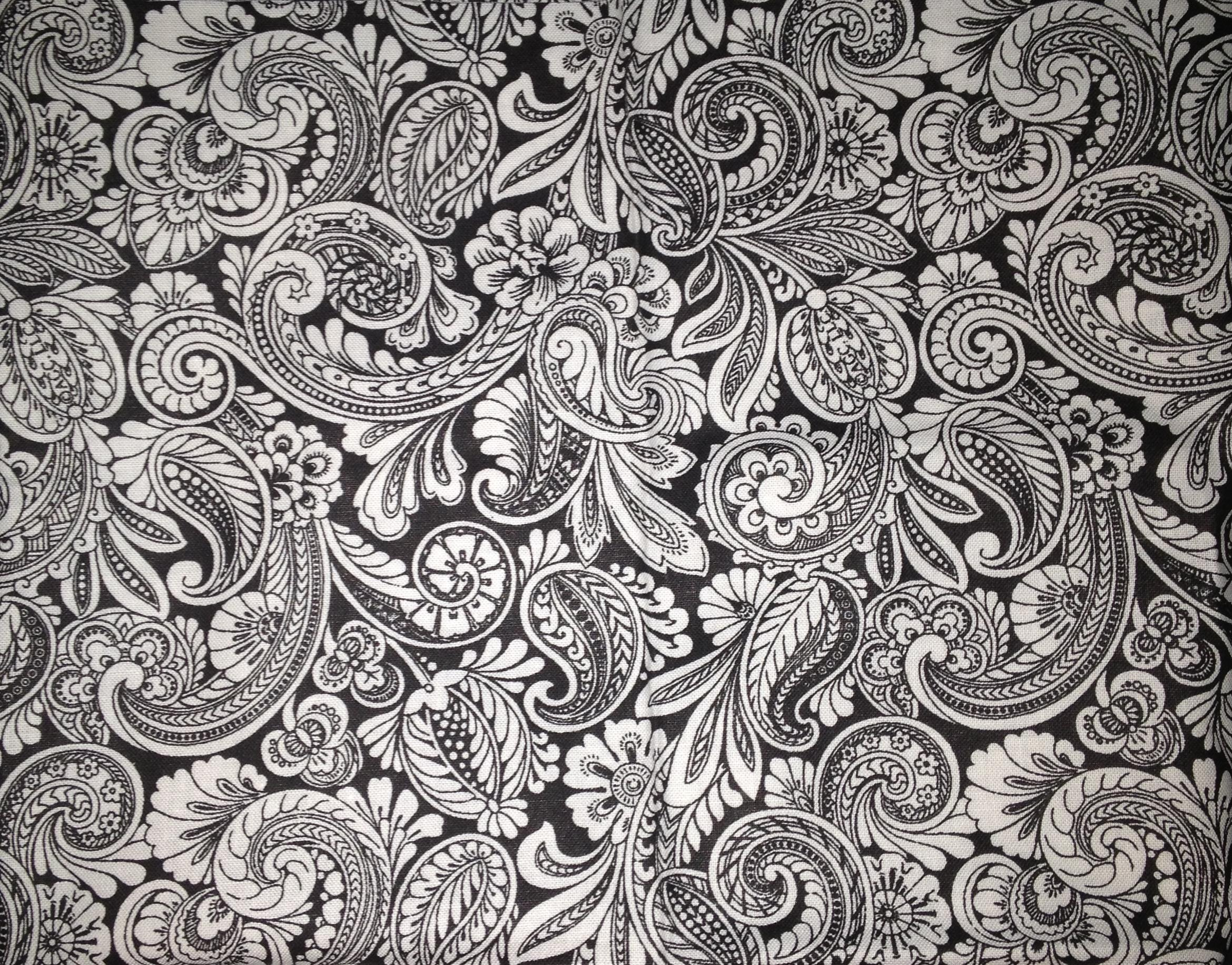 Black and white paisley wallpaper wallpapersafari for Paisley wallpaper