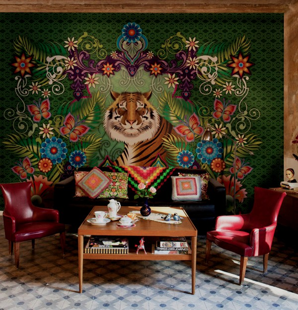 Bold and colorful wallpaper designs Adorable Home 600x623