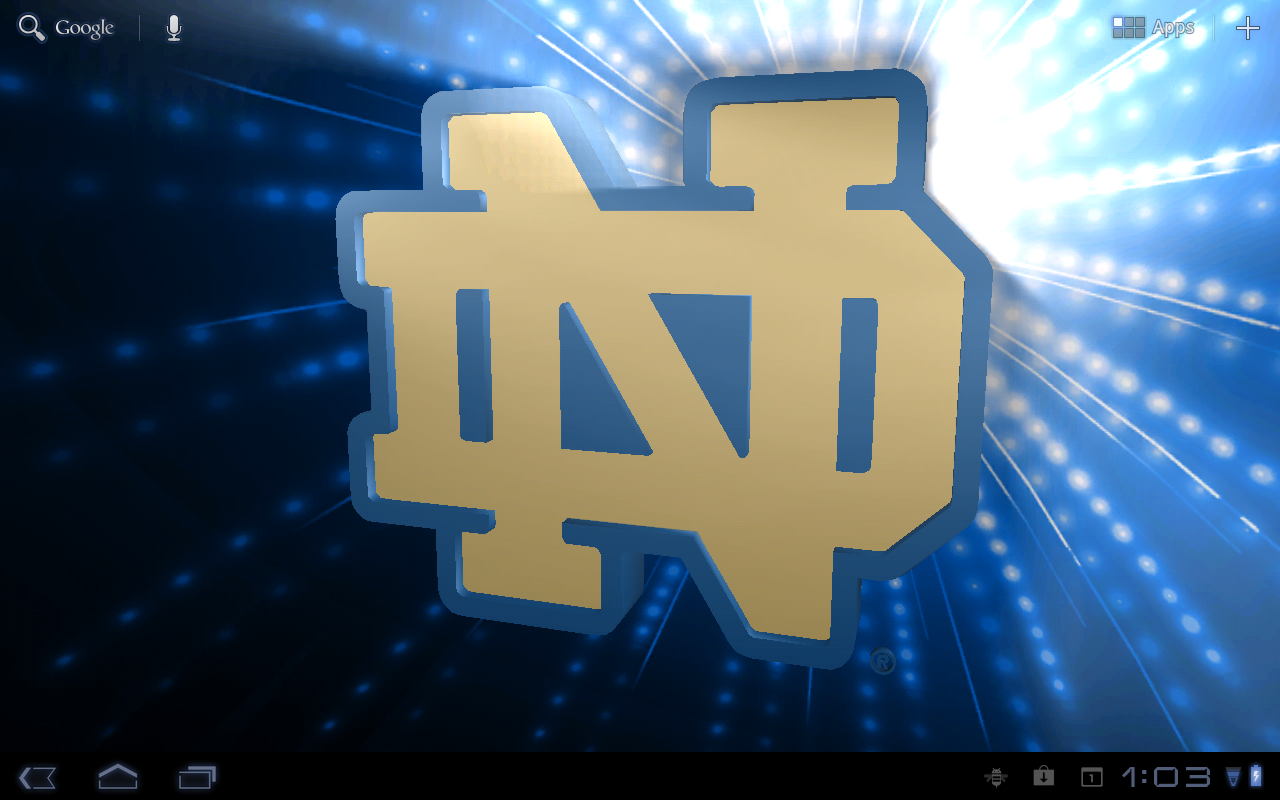 officially licensed notre dame fighting irish live wallpaper designs 1280x800