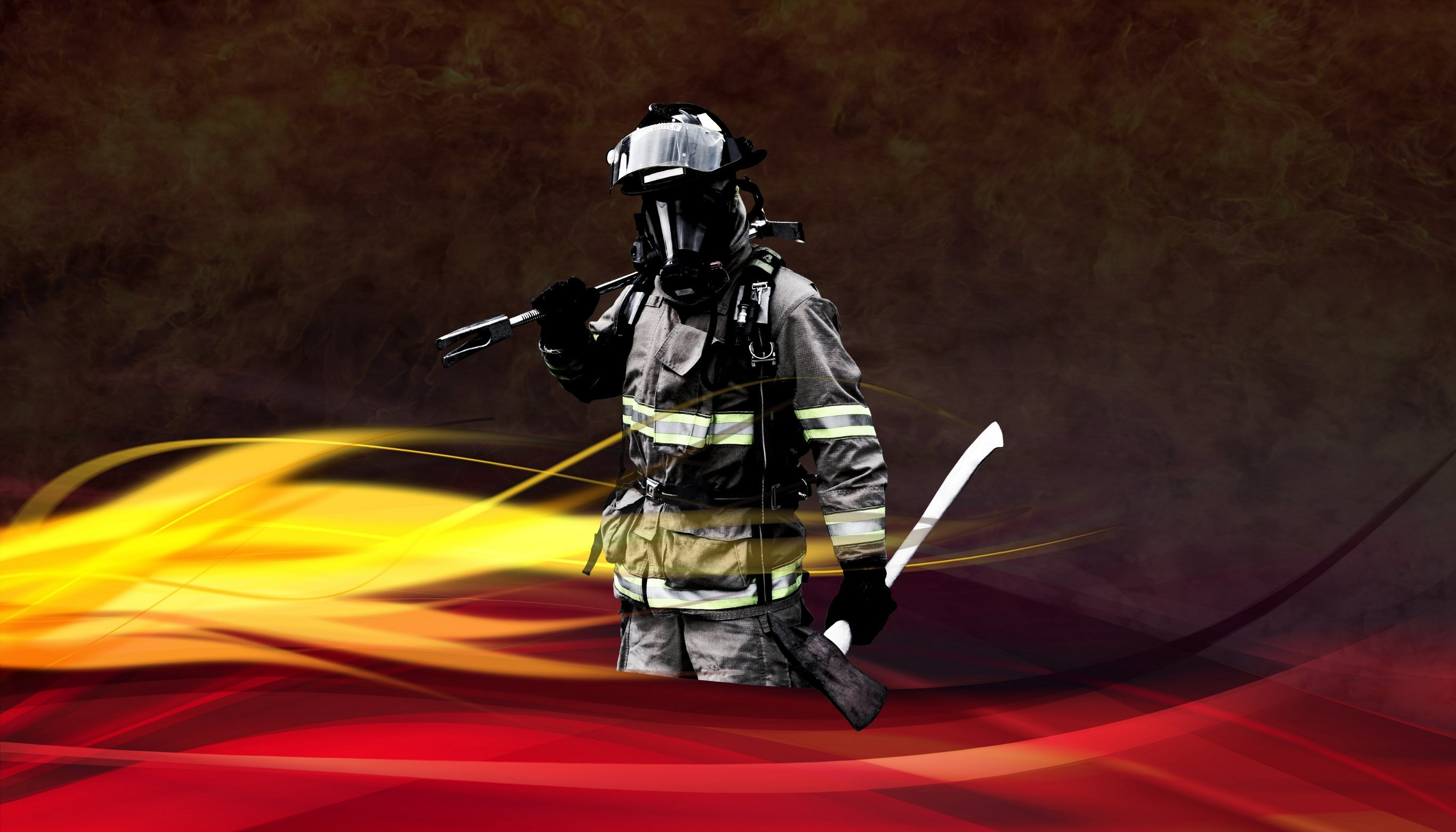 Volunteer Firefighter Wallpaper South sherman fire 2732x1562