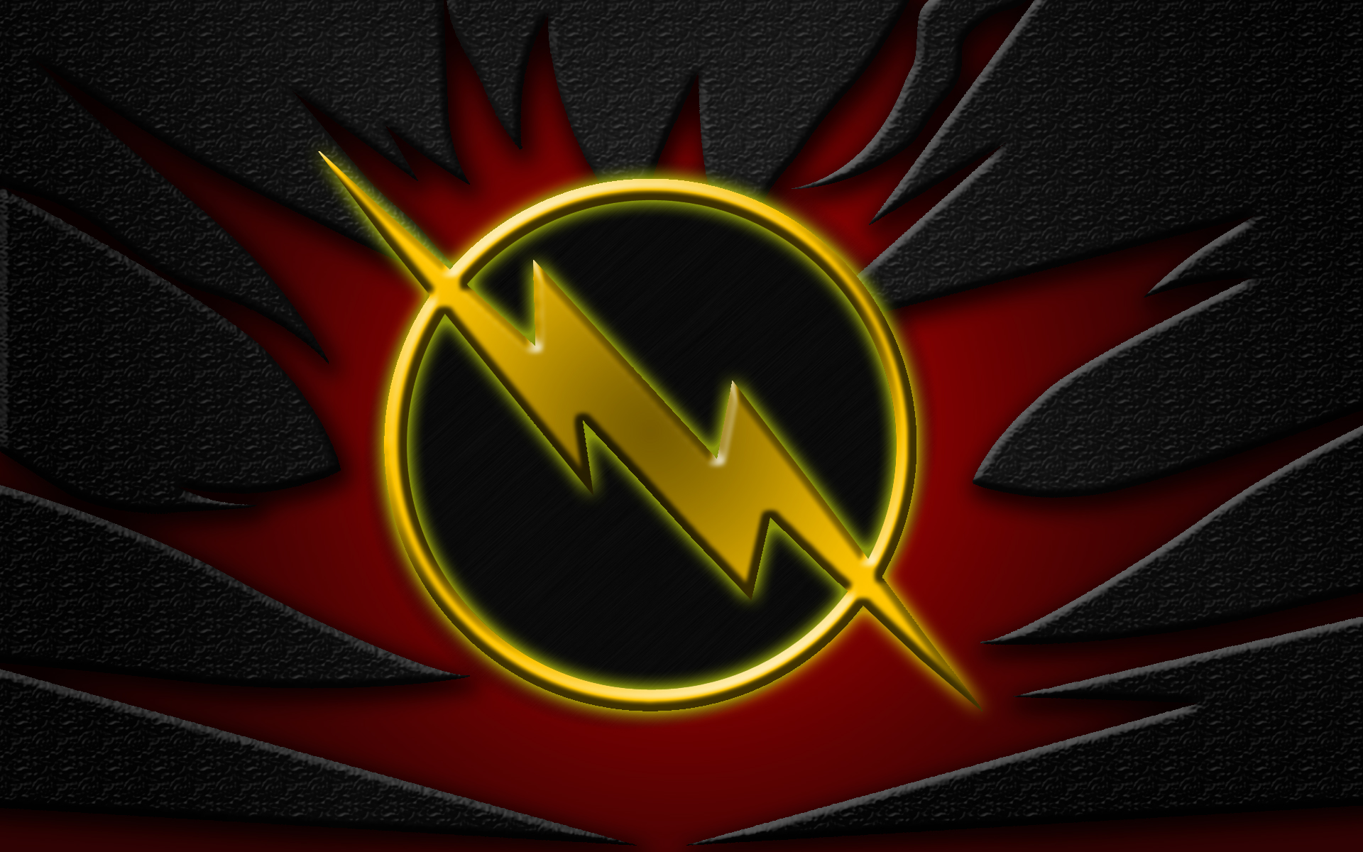 Reverse Flash Logo Reverse Flash Texturized 1920x1200