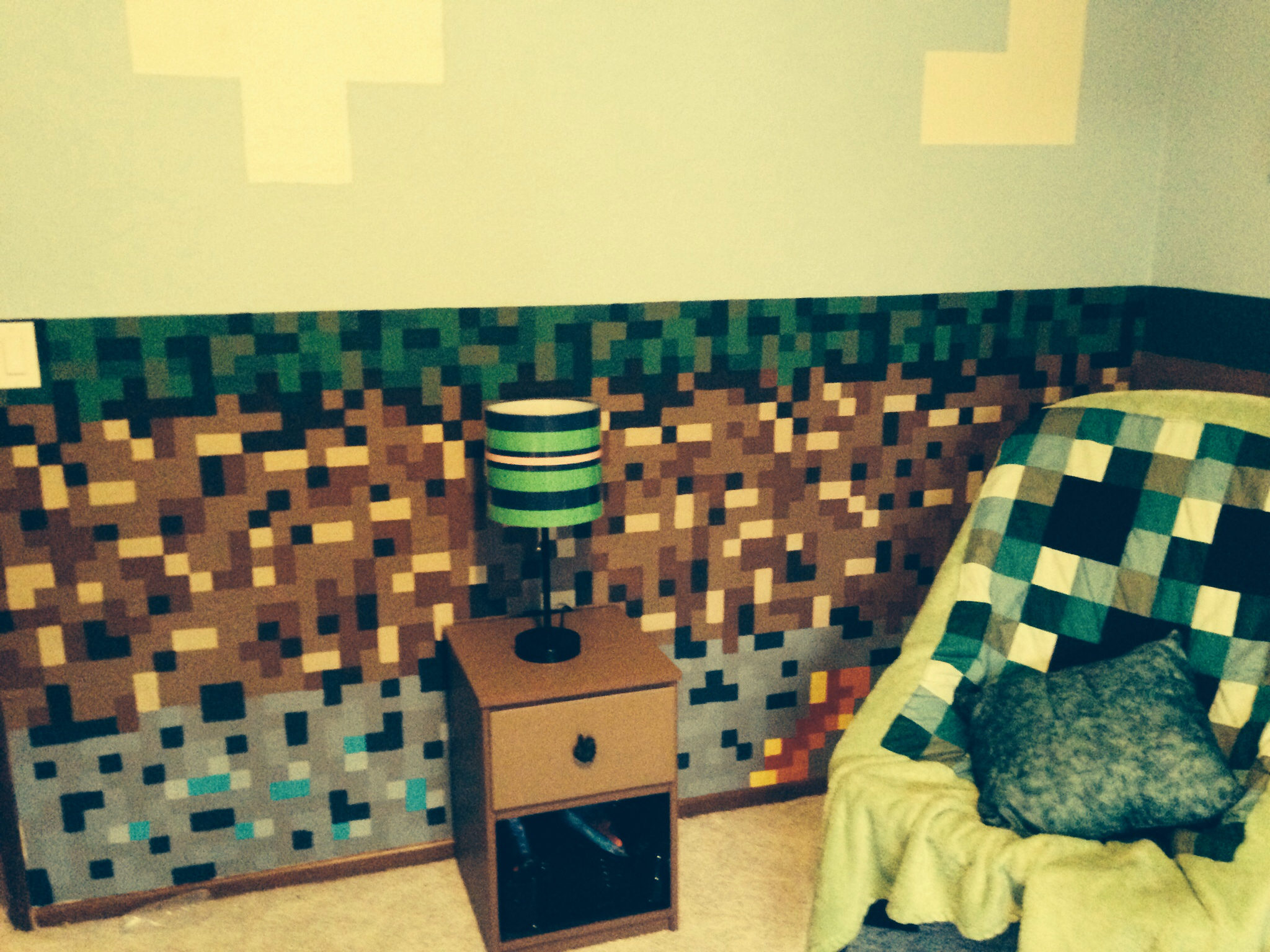 Minecraft bedroom for my 9 year old son Minecraft Pinterest 2048x1536