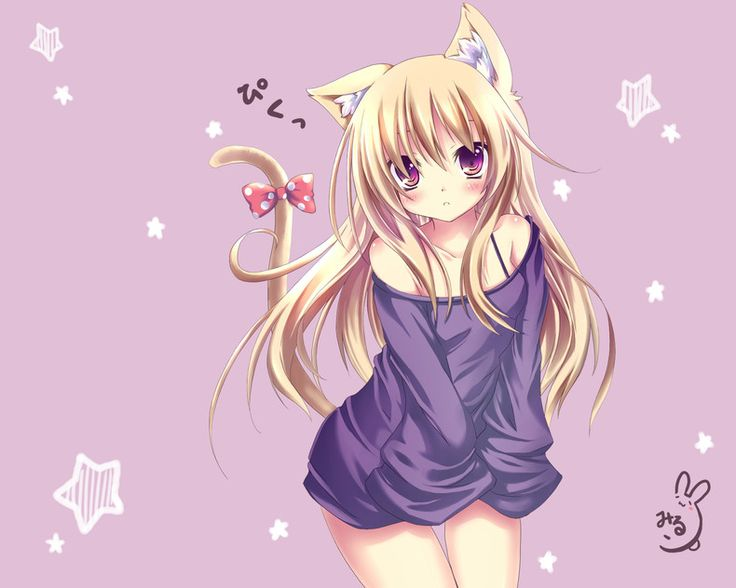 Cute Anime Cat Girl Home Gallery Anime Girls Wallpapers 736x588