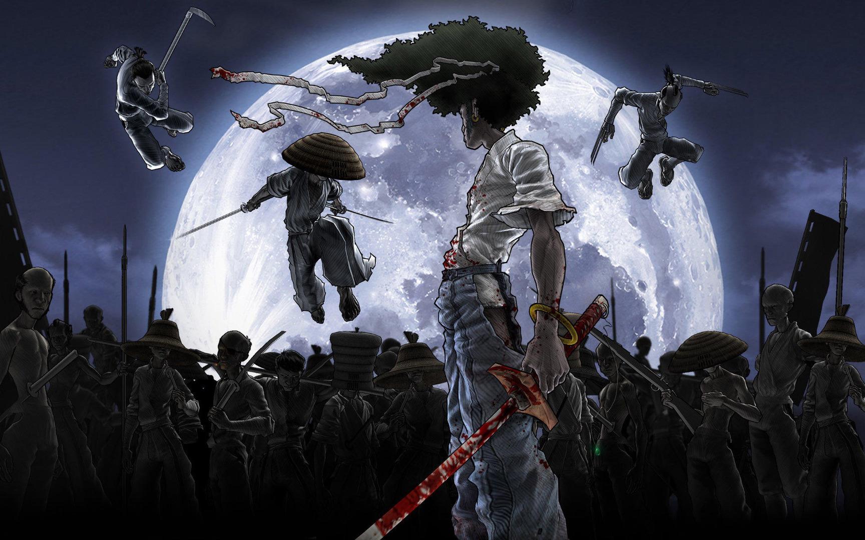 Download Afro Samurai wallpaper 1728x1080
