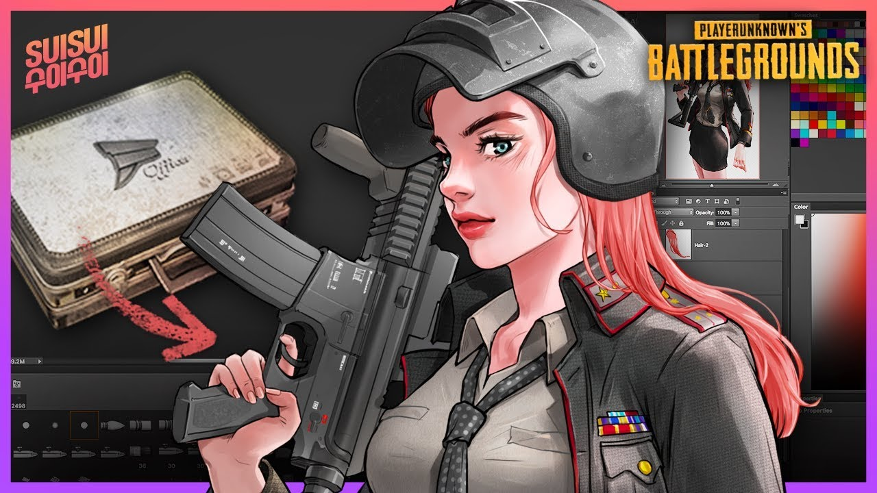 Free Download Pubg M4 Girl With Militia Outfits Wallpaper Engine