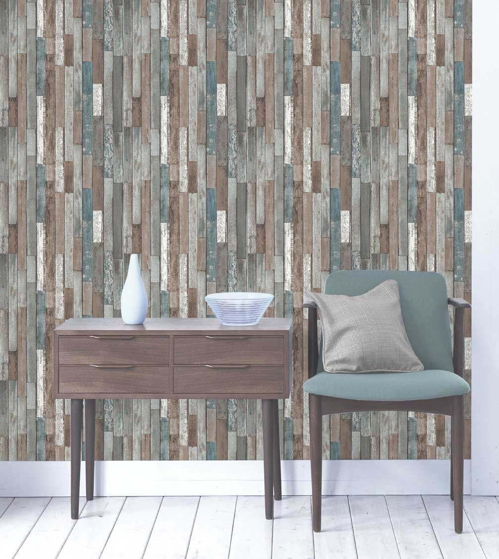 Fine Decor Reclaimed Wood Wallpaper   Multi FD40888 1005x1125