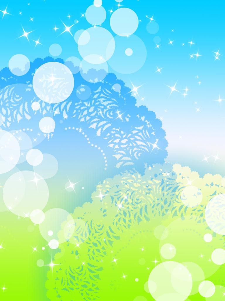 Green Blue background by YuniNaoki 768x1024