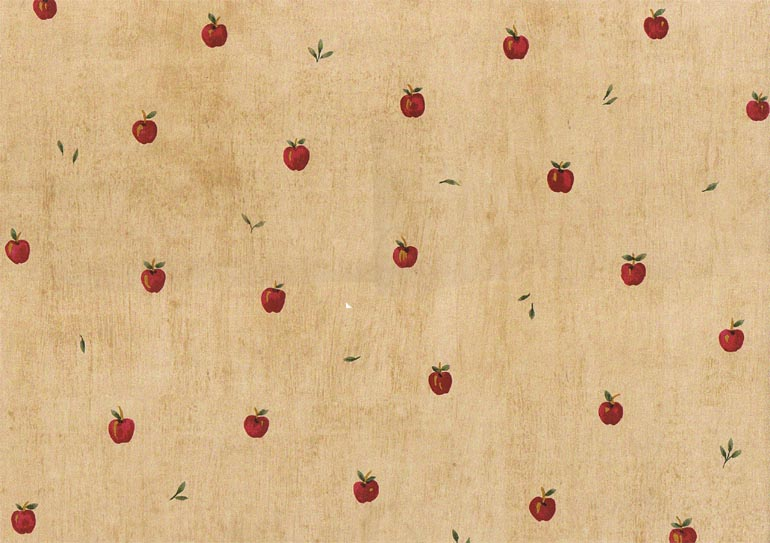 Details about KITCHEN RED APPLES LEAVES NORWALL Wallpaper KT28955 770x543