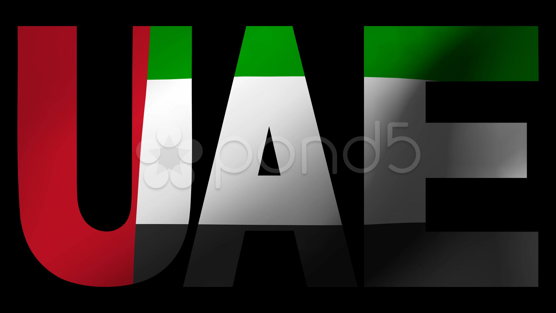 Video UAE text with fluttering flag animation 8778289 1920x1080