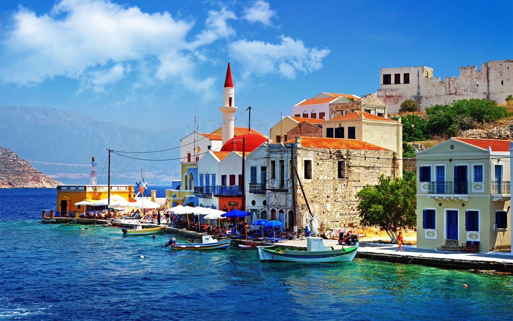 Greek Islands Wallpaper Greece Pier   HD Love Wallpaper HD 1680x1050