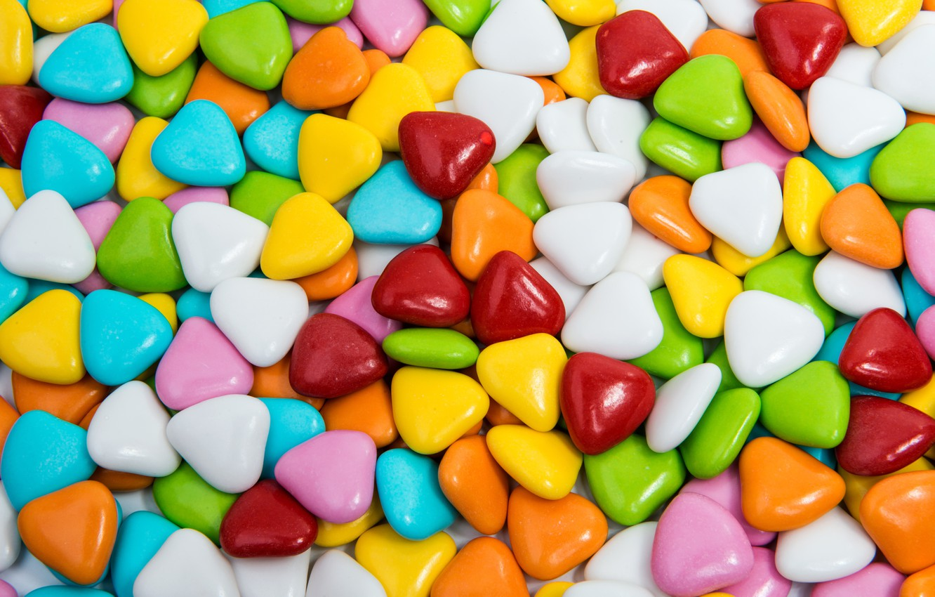 Wallpaper colorful candy sweets lollipops hearts sweet candy 1332x850