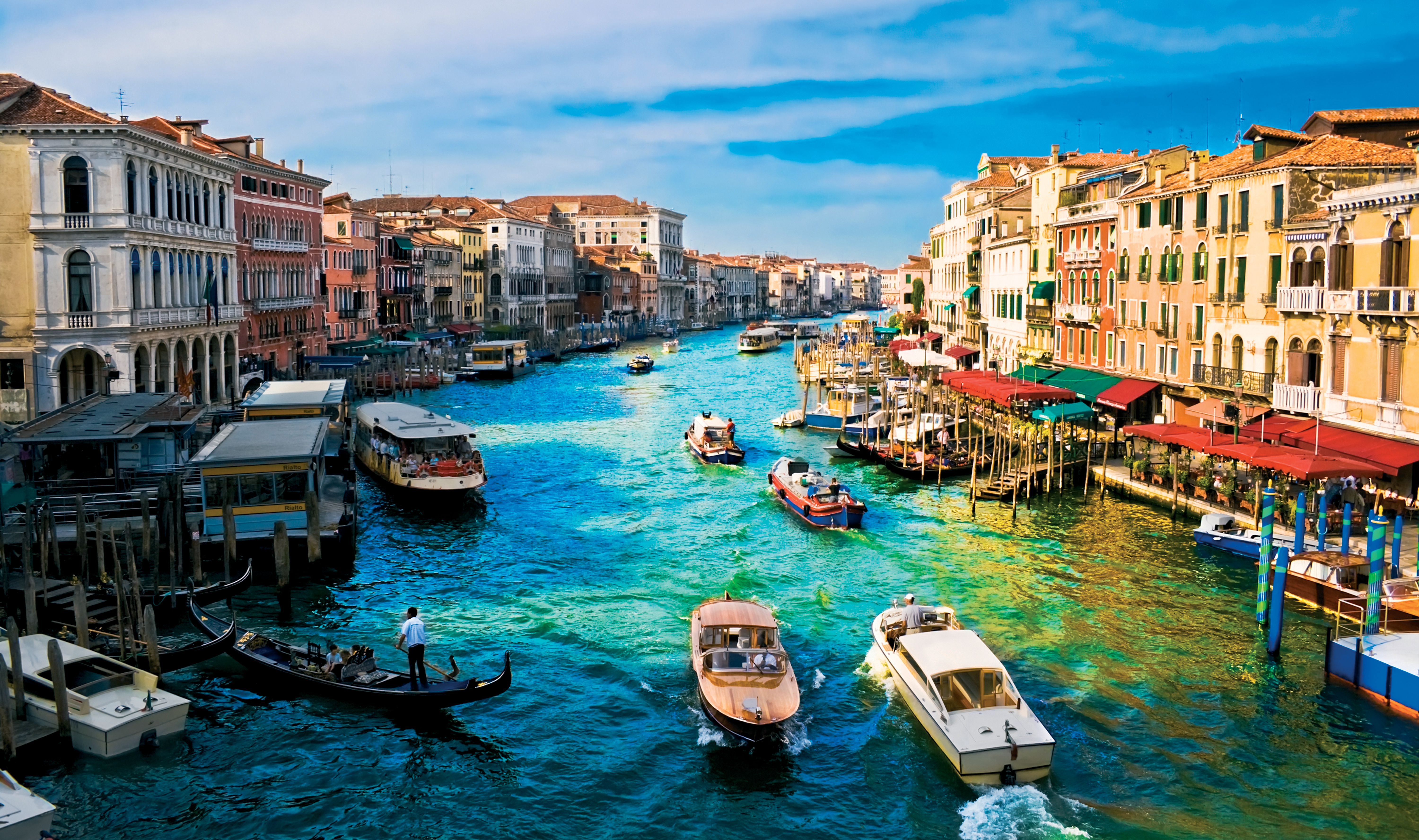 Venice Canal Boat Buildings HD wallpapers Collection 6000x3554
