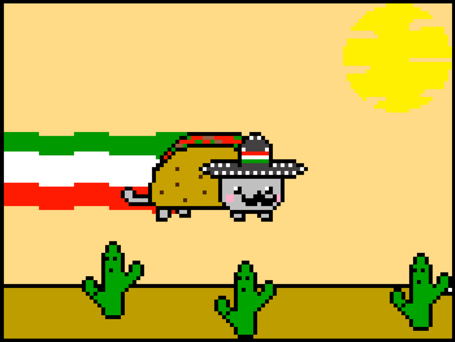 nyan cat mexican version P by cromsifing 900x676