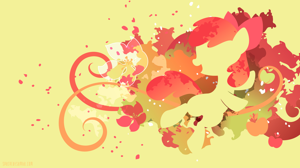 Applebloom Silhouette Wall by SpaceKitty 1024x576
