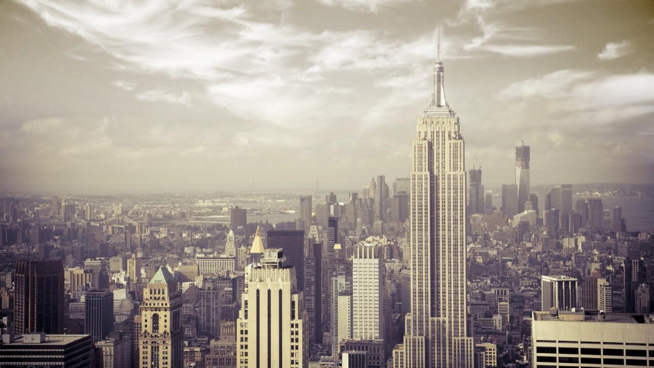 Empire state building manhattan new york city wallpaper 1280x720
