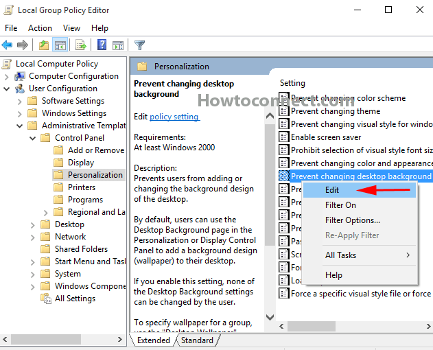 How To Disable Desktop Background In Group Policy Windows 7 - Desk