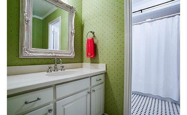 Fun kids bath wallpaper Home A Place to Wash Up Pinterest 623x384