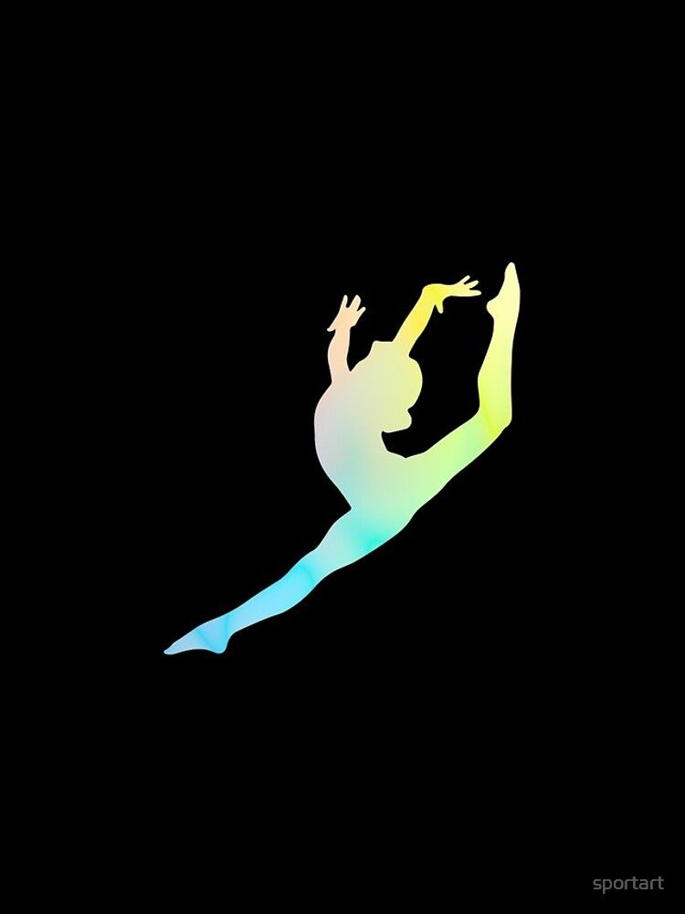 Gymnast Silhouette iPhone Case Cover by sportart in 2021 750x1000