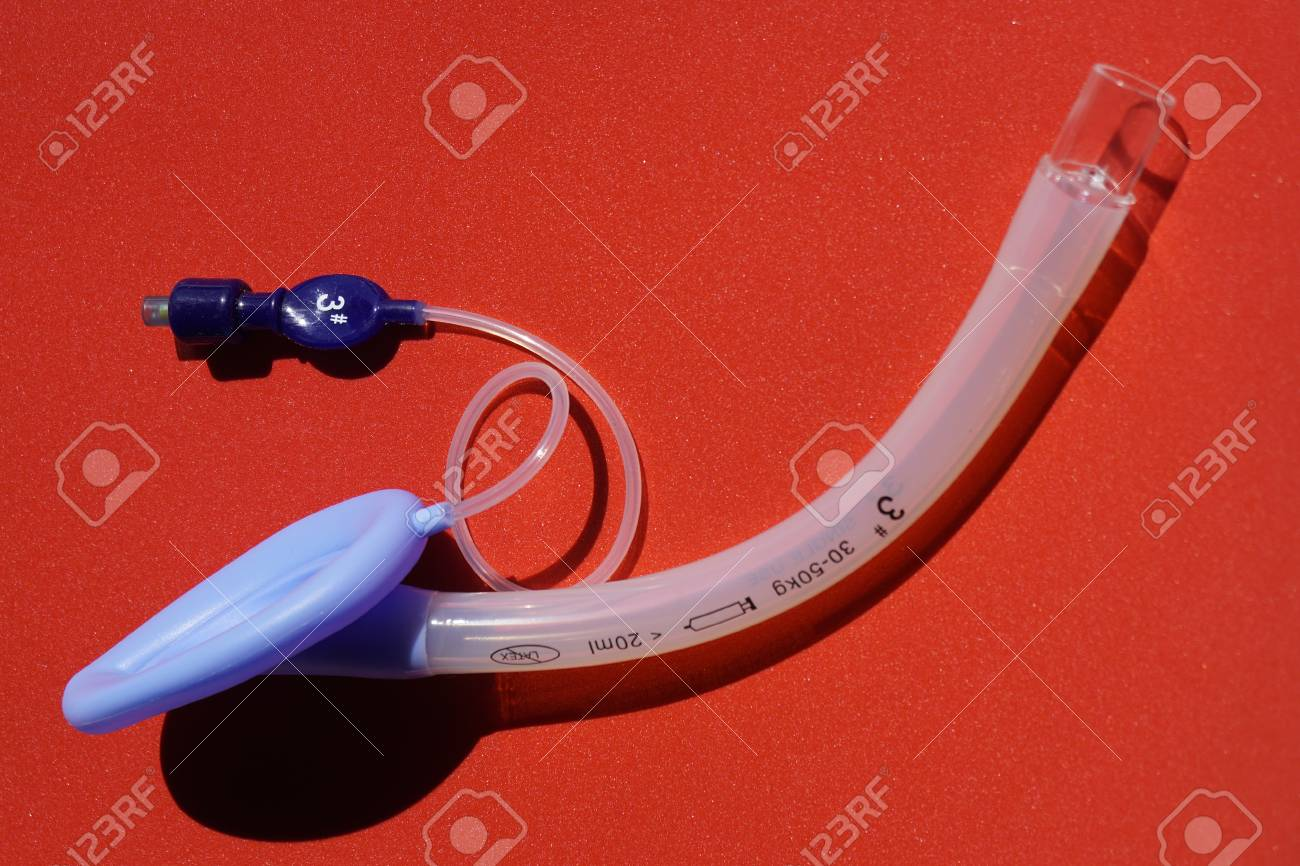 Laryngeal Mask Airway For Emergency Medical Help On A Red 1300x866