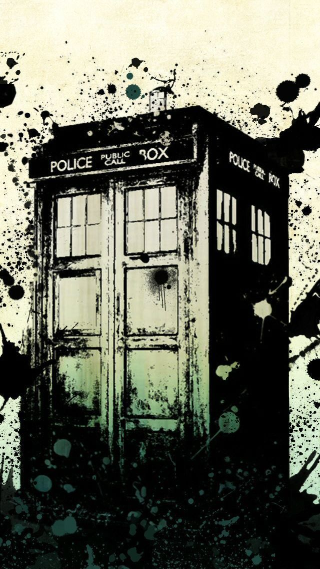 Doctor Who iPhone 5 wallpaper the Tardis Whovians Pinterest 640x1136