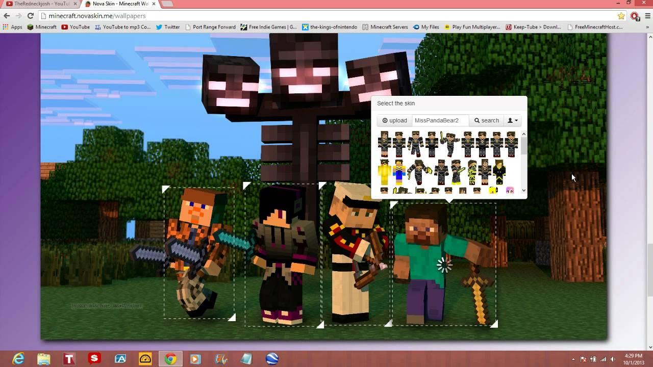 Make youtube wallpaper wallpapersafari - Minecraft wallpaper creator online ...