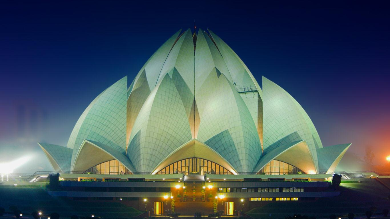 The Bah Lotus Temple in New Delhi India Renaud VisageGetty 1366x768