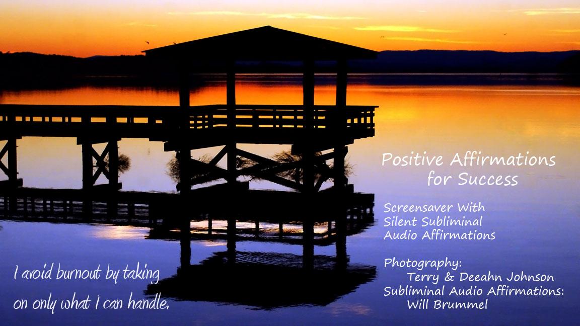 Positive Affirmations for Success Screensaver silent subliminal 1152x648