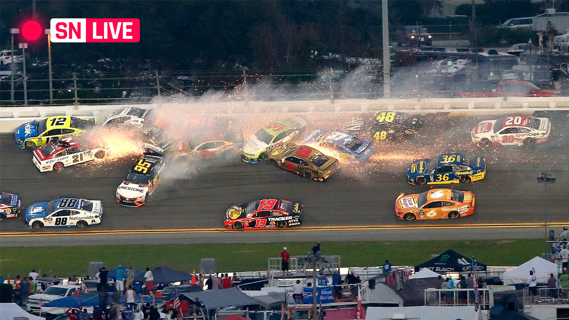 Daytona 500 results Highlights from Denny Hamlins chaotic crash 1920x1080