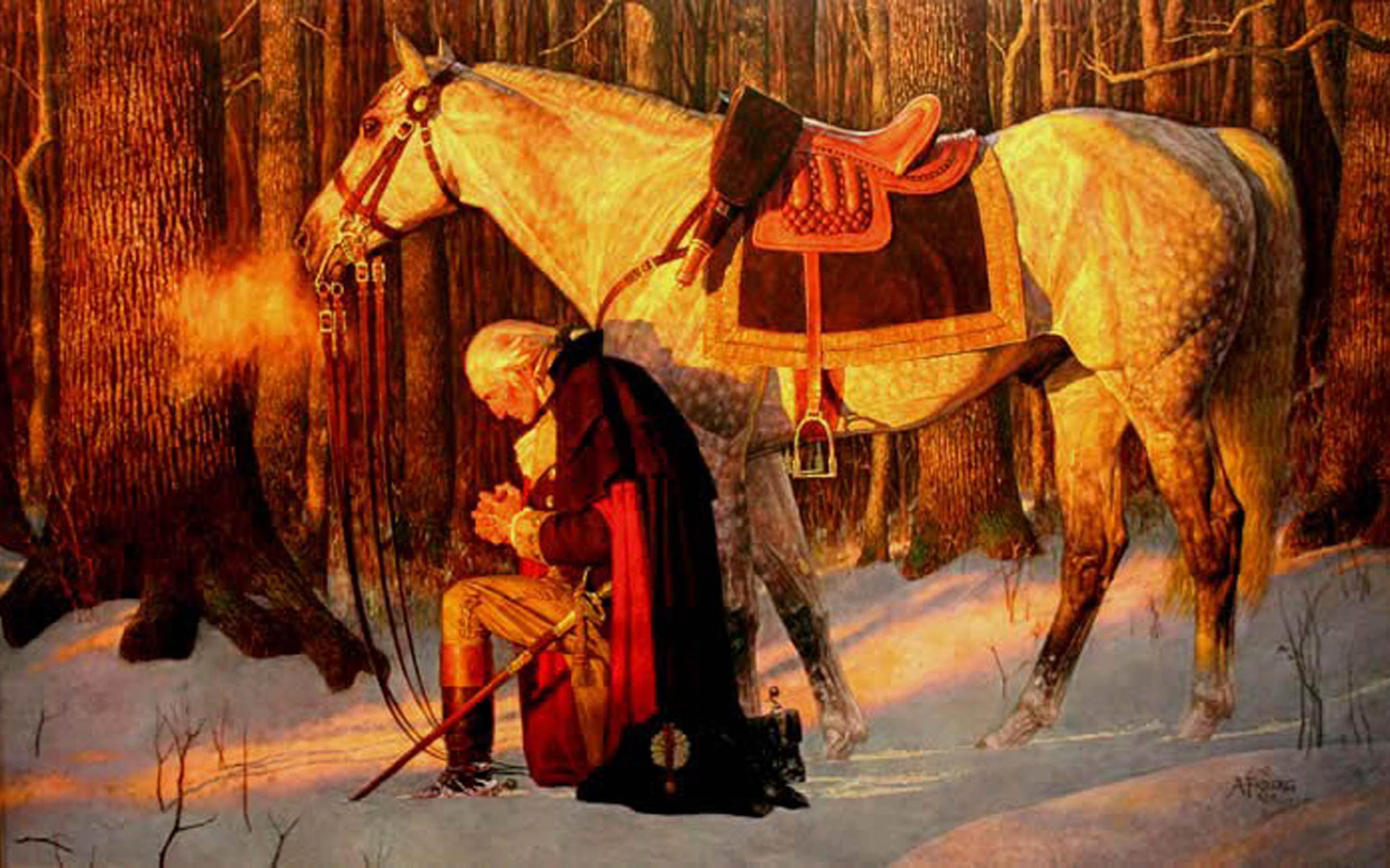 2560x1600 George Washington George Washington Praying 2560x1600