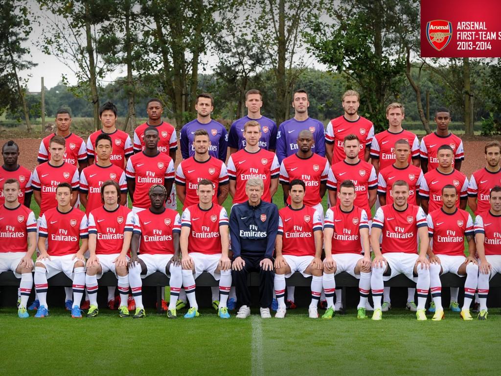 Arsenal Squad 2013 2014   Sport Wallcom 1024x768