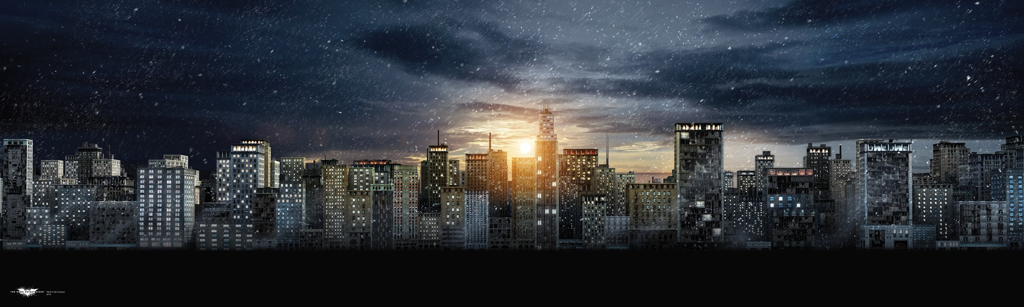 Gotham City Wall Mural Wallpaper Mural 2000x600