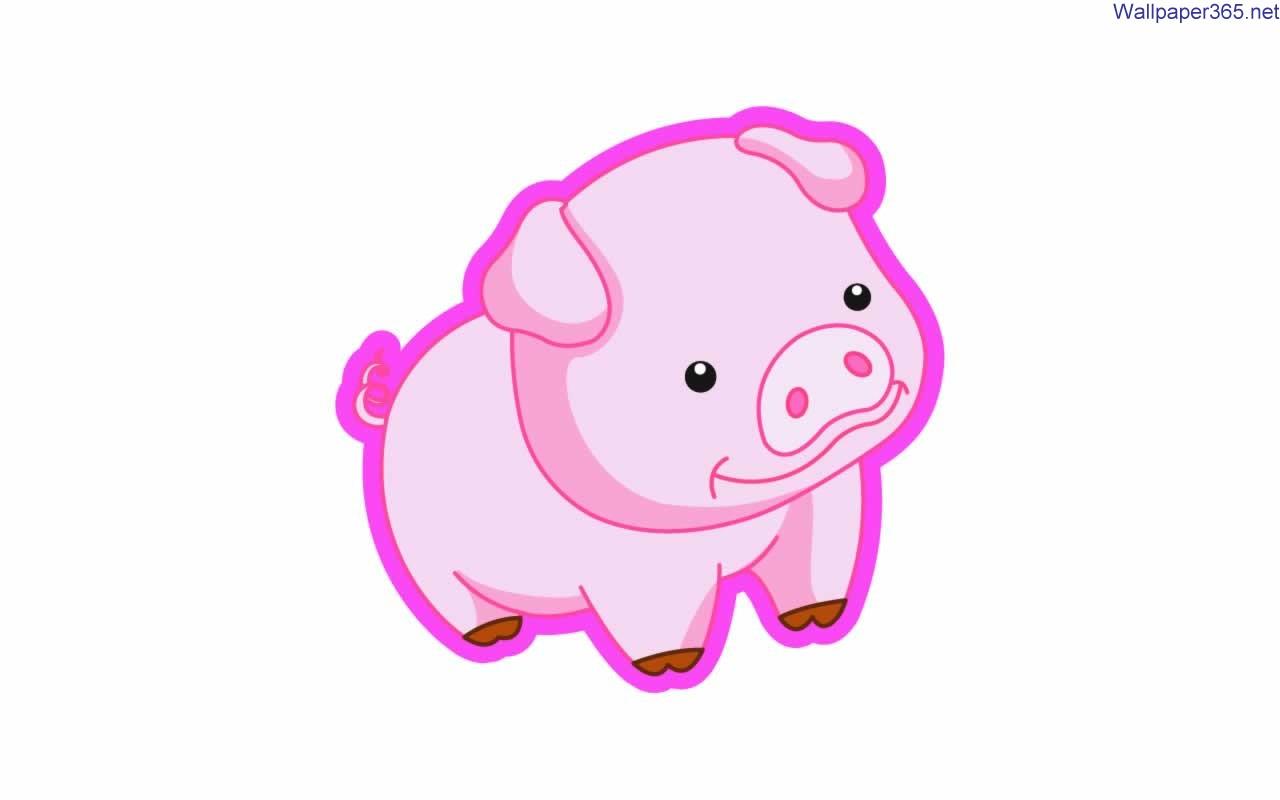 cartoon pig wallpaper 26701 hd wallpapers 1280x800