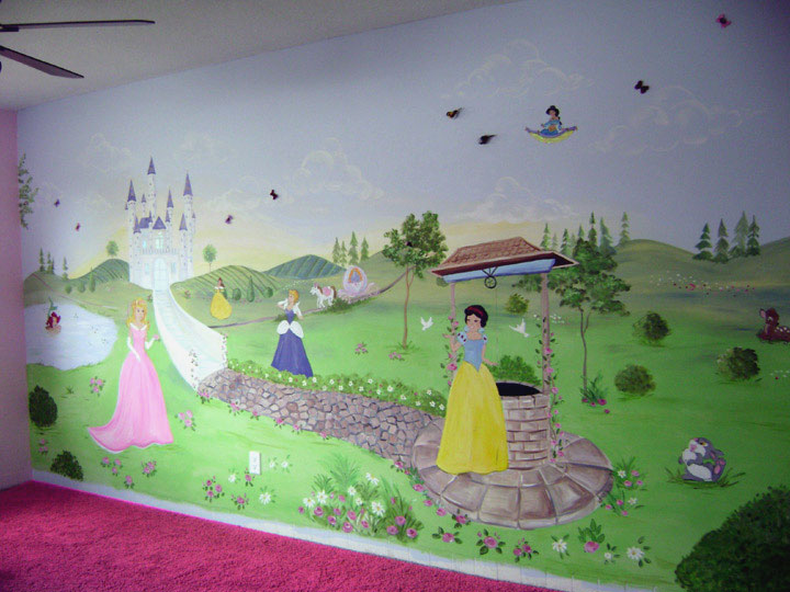 Disney Princess mural Let your child live in a princess land 720x540