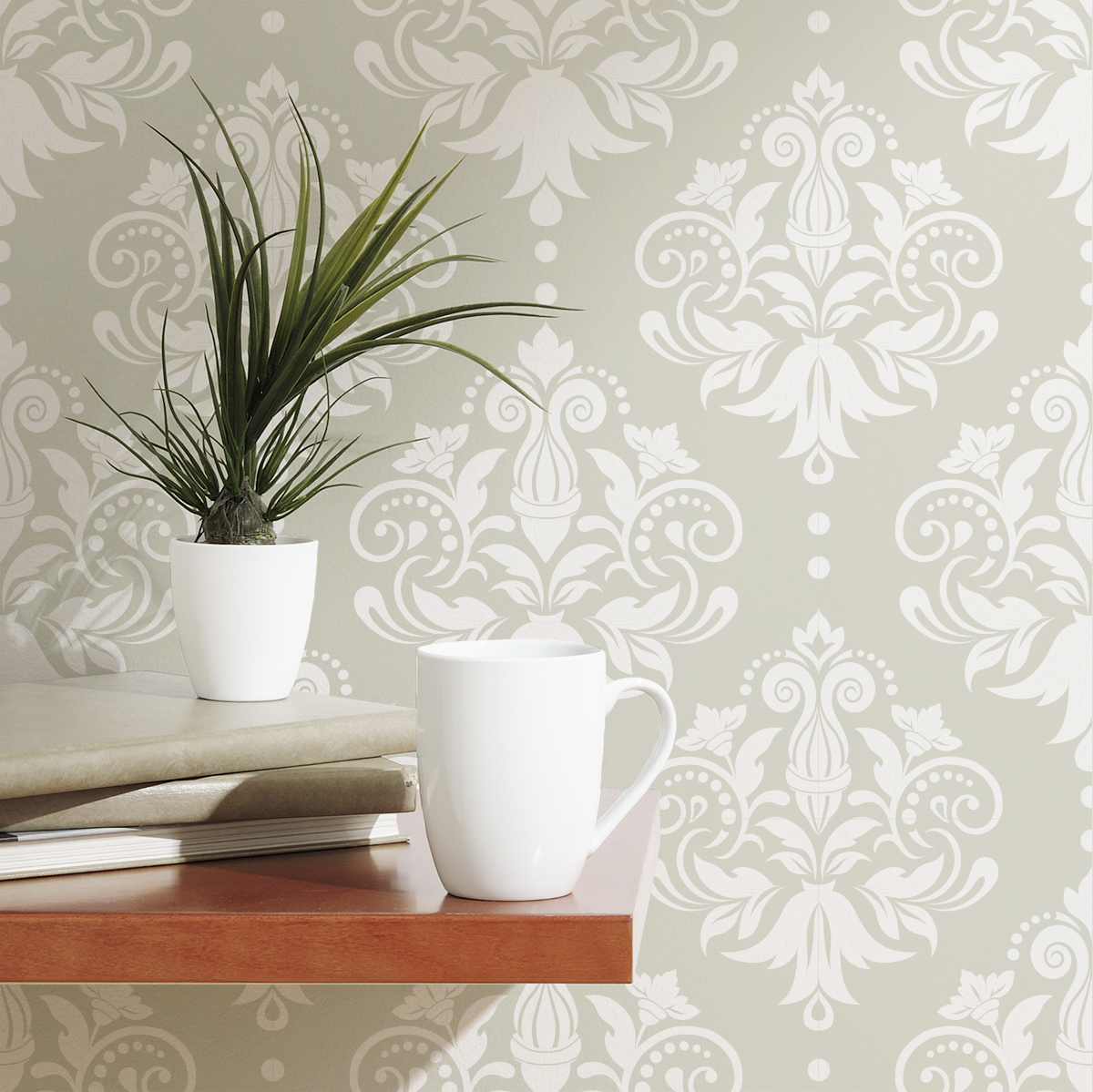 Damask Removable Wallpaper Tile 1200x1199