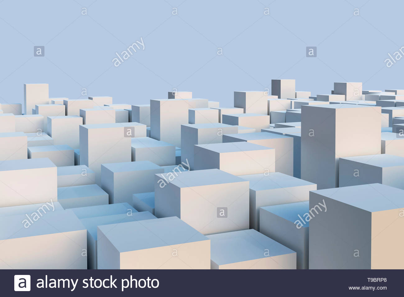 Abstract white cuboids or cubes illustration Geometry or 1300x956