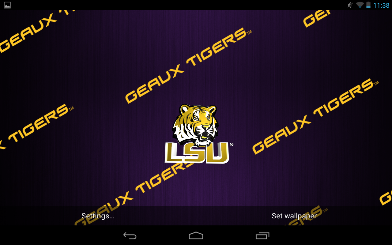 lsu tigers live wallpaper hd android apps on google play lsu tigers 1280x800