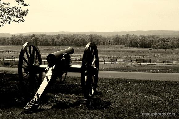 Gettysburg Desktop Wallpaper Cannon on Cemetery Ridge Gettysburg 580x387
