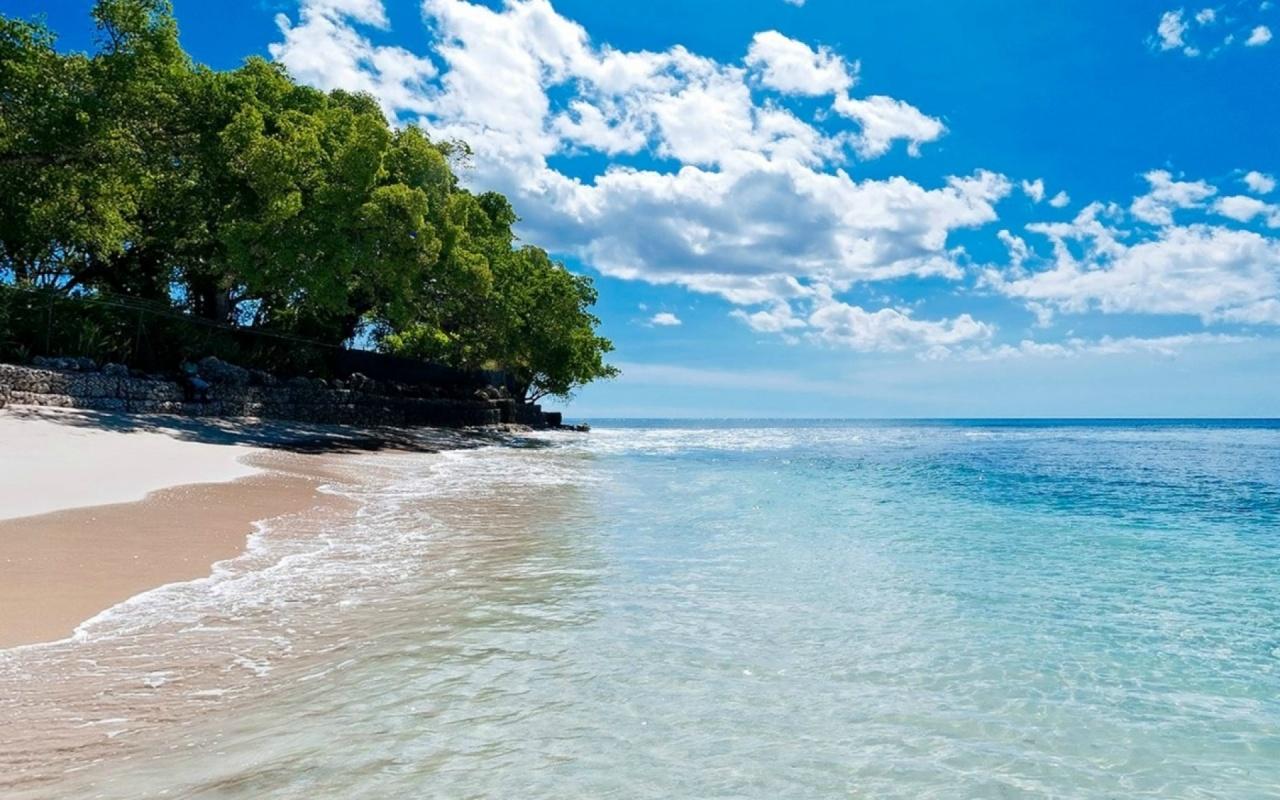 1280x800 Caribbean Beach Turquoise Lake desktop PC and Mac wallpaper 1280x800