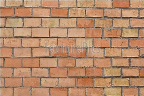 of Brick Wall Background    Close Up Of A Orange Brick Wall Background 500x333