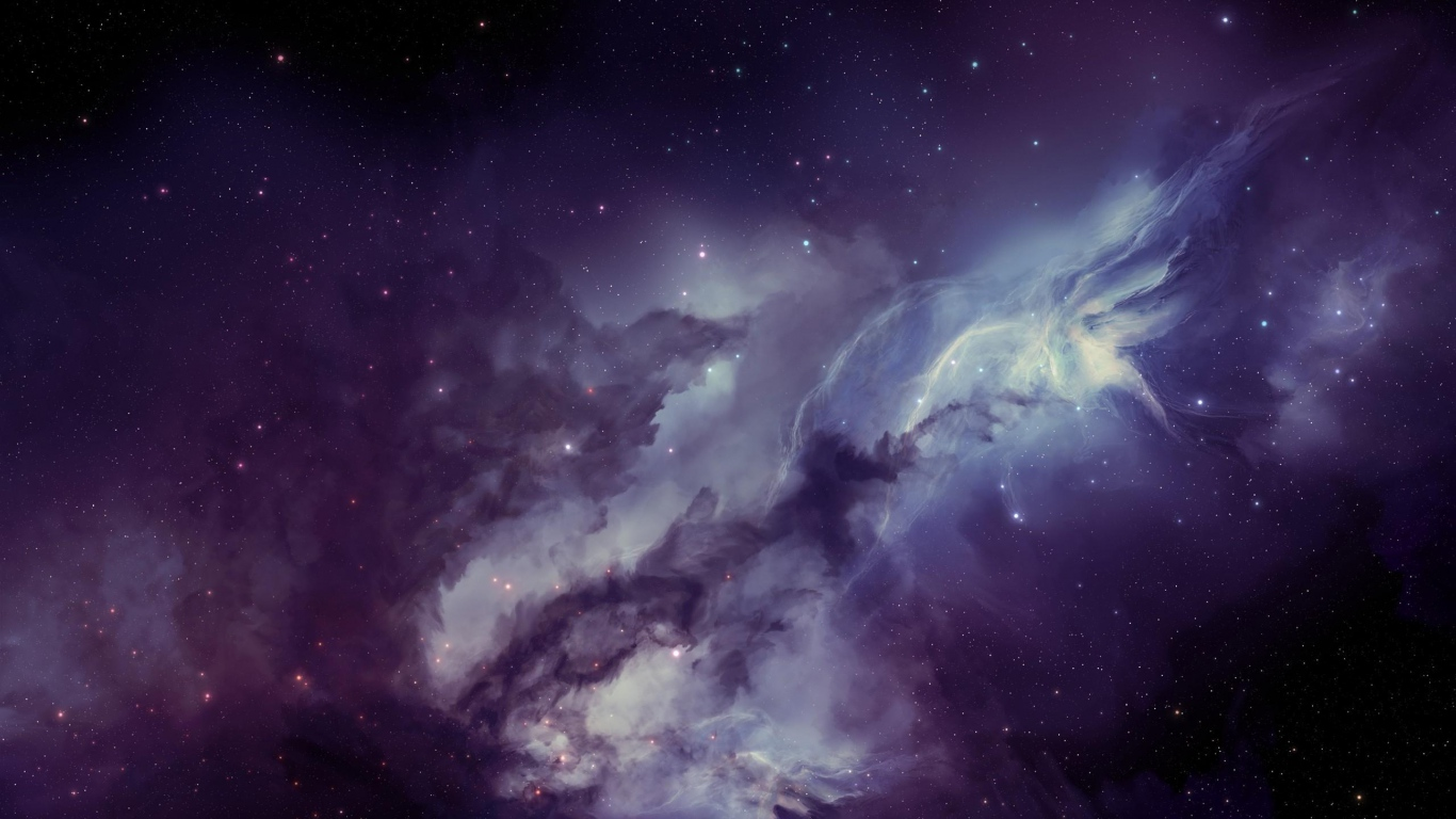 Wallpaper 1366x768 galaxy nebula blurring stars laptop 1366x768 1366x768