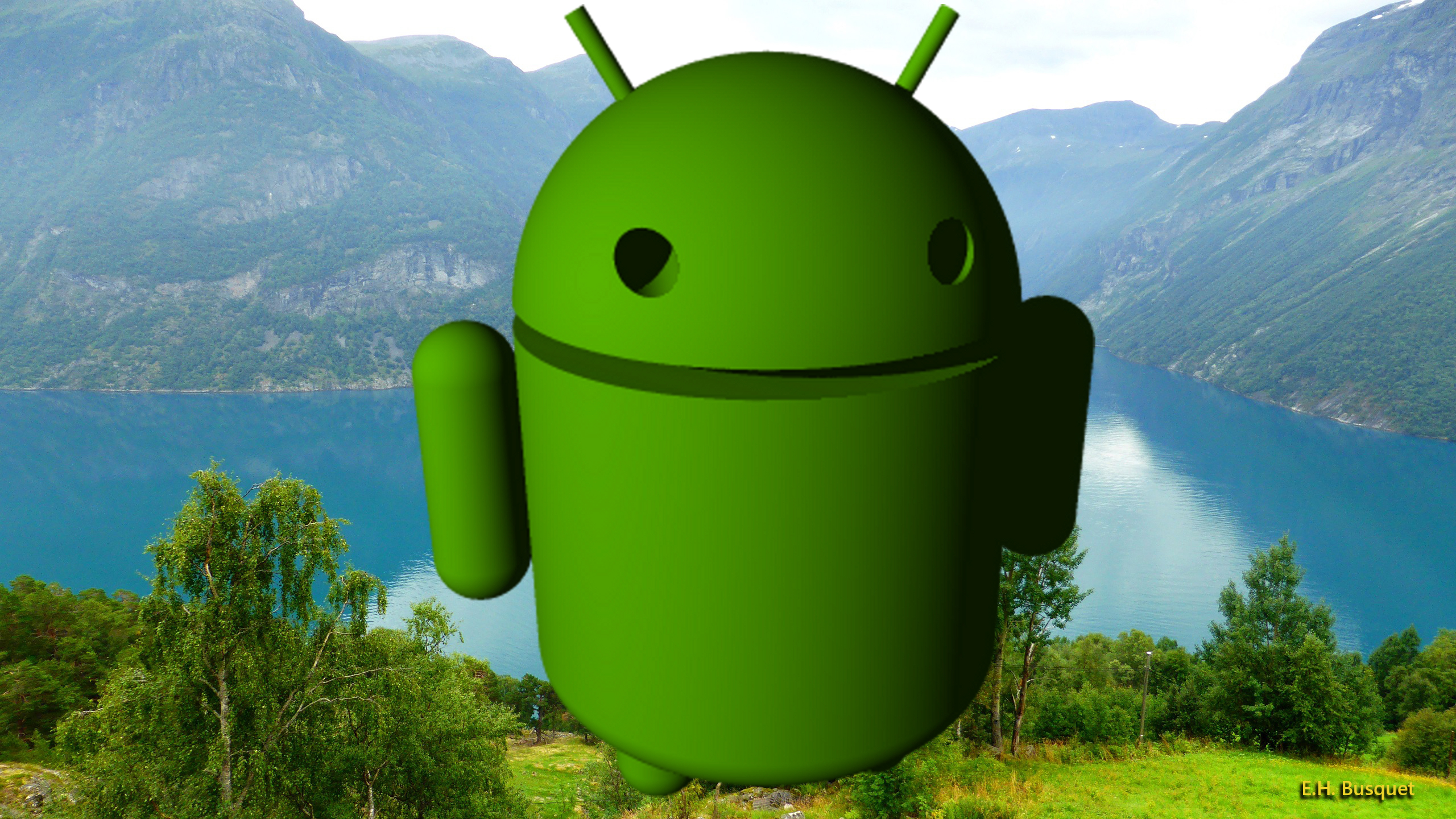 Green Android Robot Barbaras HD Wallpapers 2560x1440
