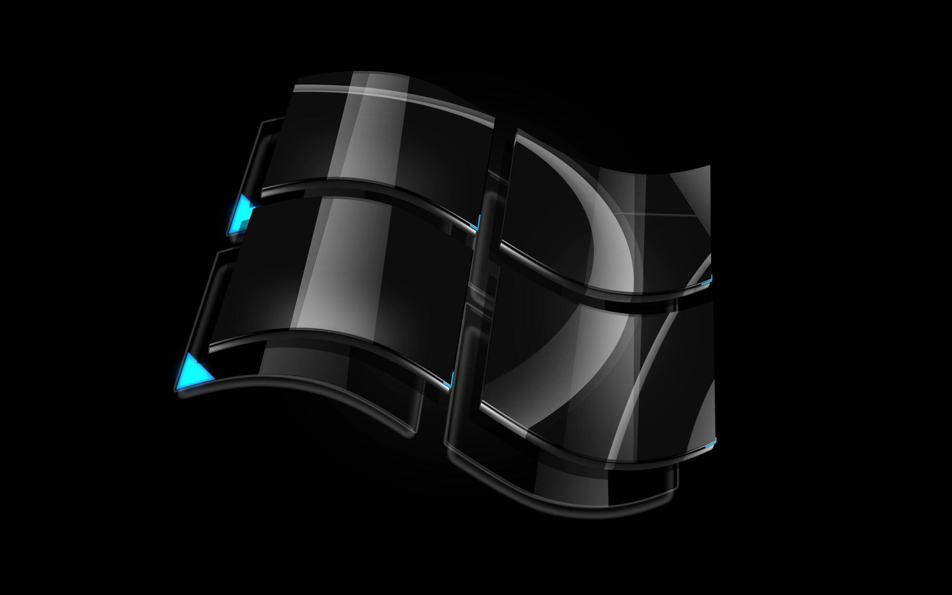 Windows Dark Glass Logo Wallpapers HD Wallpapers 1920x1200