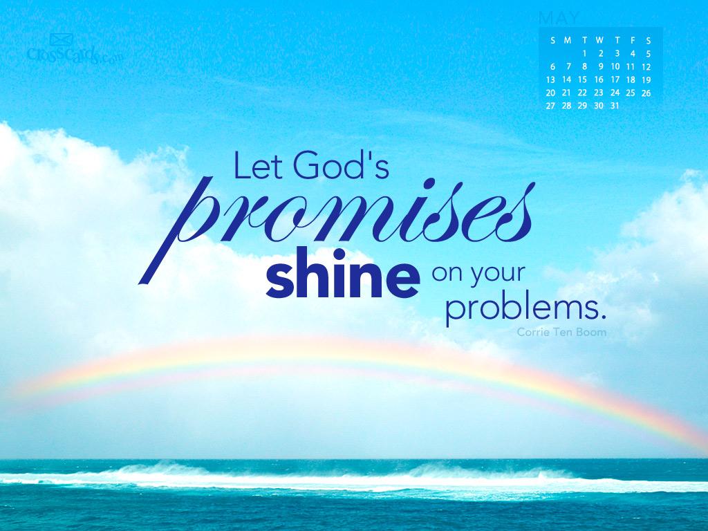 May 2012   Gods Promises Desktop Calendar  Monthly Calendars 1024x768