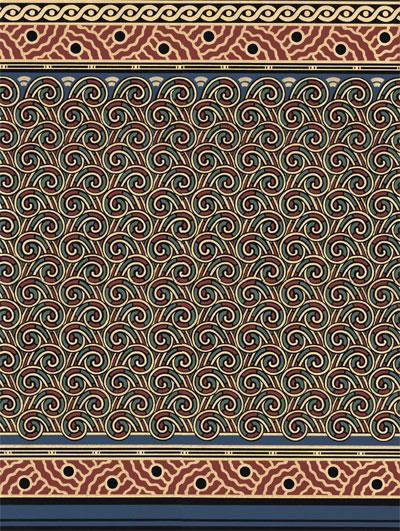 Bradbury Art Nouveau Victorian Wallpaper Fenway Fiddlehead Dado 400x531