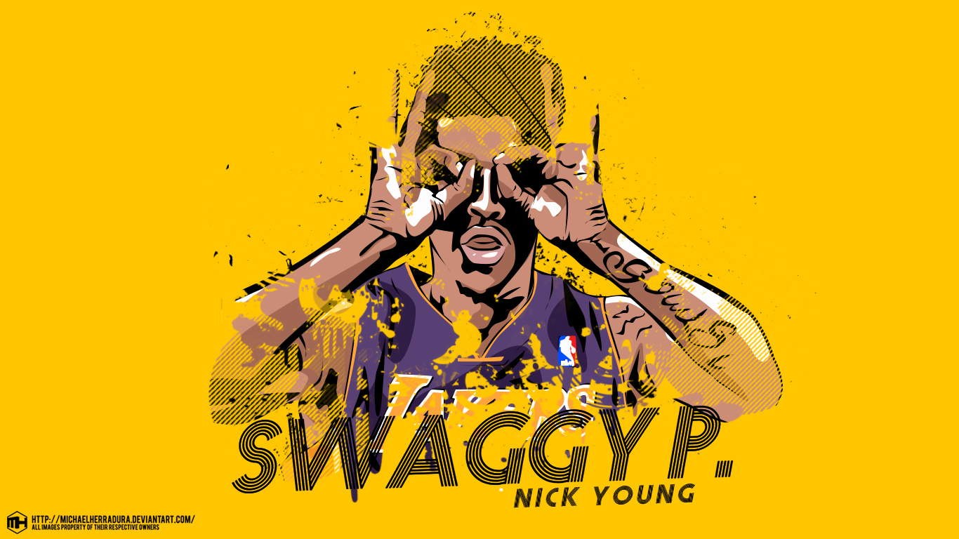 Nick Young Swaggy P wallpaper by michaelherradura on 1366x768