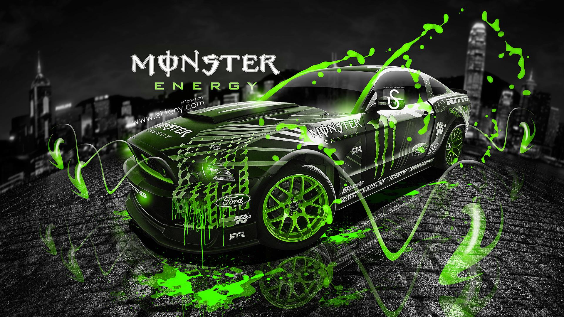 Nice Incroyable Monster Energy Ford Mustang GT Fantasy Green Acid