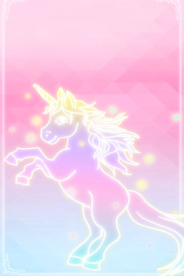 unicorn pink fades to blue wallpaper iphone background cutesy design 640x960