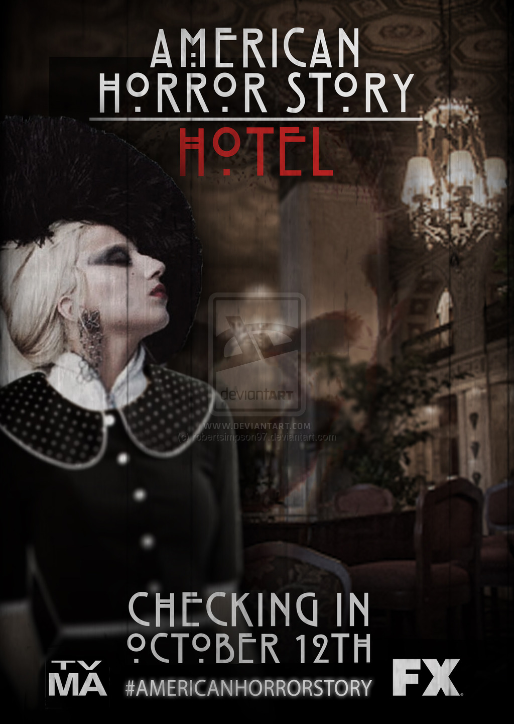 AHS HOTEL POSTER by robertsimpson97 1024x1441