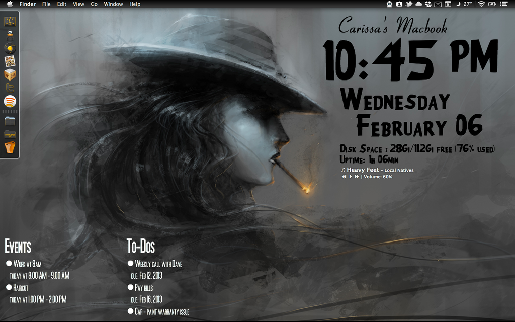 Film Noir Desktop Wallpaper Film noir geektool desktop by 1024x640
